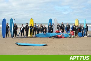 Surfing group photo