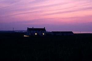 Places -night sky over farm house © Phil Holden Scotland