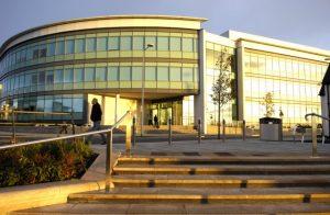 Dawn light on Development the Marina Swansea phil holden